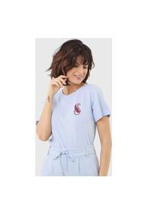 Camiseta Maria Filó Onça Azul