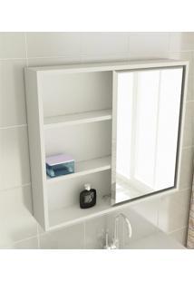 Espelheira Para Banheiro Modelo 22 60 Cm Branca Tomdo