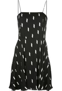 Alice+Olivia Slip Dress Glinda Estampado - Preto