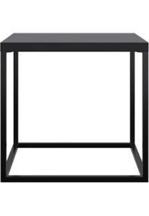 Mesa Centro Cube Preto Aco Preto 38Cm - 59291 - Sun House