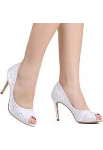 Sapato Zariff Peep Toe Noivas