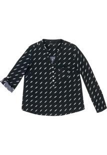 0acf8ae8e2 Hering. Camisa Feminina Em Tecido De Viscose Com Estampa