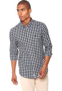 Camisa Timberland Gingham Azul/Branca