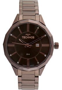 Relógio Technos 2015Cco/4M Marrom - Kanui
