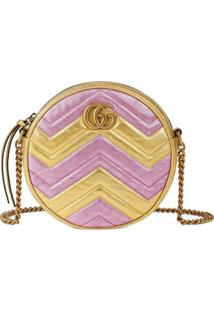 Gucci Gg Marmont Round Shoulder Bag - Rosa