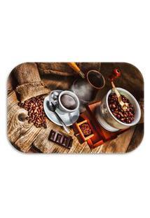 Tapete Decorativo Lar Doce Lar Decor Coffee 40Cm X 60Cm Marrom