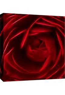 Quadro Impressão Digital Rosa Vermelha Vermelho 30X30Cm Uniart