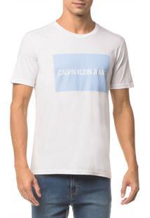 Camiseta Ckj Mc Est Logo Retangulo - Branco 2 - Pp