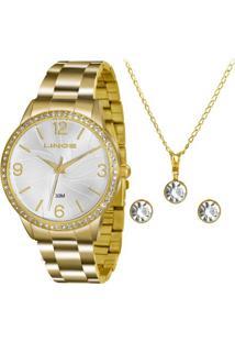 Kit Relógio Feminino Lince Lrgj049L Kt11S2Kx Analógico 3 Atm