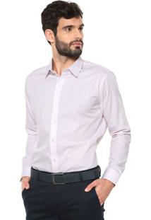 Camisa Sergio K Reta Padronagem Rosa