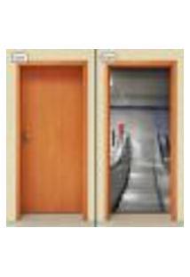 Adesivo Decorativo De Porta - Escada Rolante - 1550Cnpt