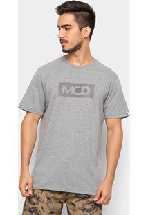 Camiseta Mcd Logo Masculina - Masculino-Cinza