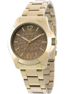 62c87eebbd0 Zattini. Relógio Feminino Unissex Dourado Analógico Manual U2 Vidro ...