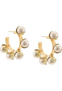 Mignonne Gavigan Mini Delfina Earrings - Branco