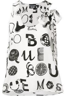 Boutique Moschino Blusa 'Ornamental Letters' - Branco