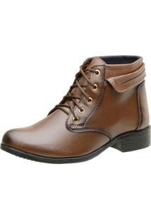 Bota Casual Ousy Shoes Recortes Café