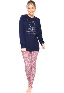 Pijama Cor Com Amor I Need Azul/Rosa
