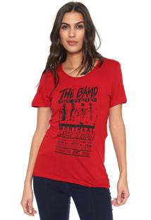 Camiseta Colcci The Band Vermelha