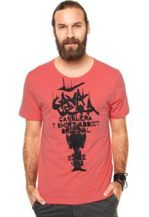Camiseta Manga Curta Cavalera Cavaletras Rosa