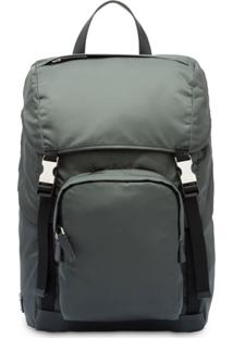 Prada Padded Detail Backpack - Cinza
