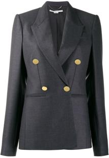 Stella Mccartney Blazer Com Abotoamento Duplo - Cinza