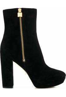 Michael Michael Kors Ankle Boot Com Salto Alto - Preto