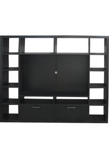 Estante Tv Cobi Preto 2Gav 205X39X172H