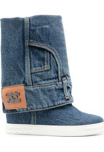 Casadei Bota Jeans - Azul