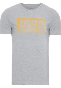 Camiseta Masculina Estampa Vintage - Cinza