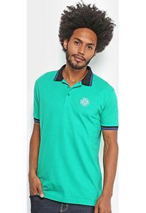Camisa Polo Dimy Bordada Masculina - Masculino-Verde