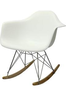 Cadeira Eames Com Braco Base Balanco Branco Fosco - 24501 - Sun House