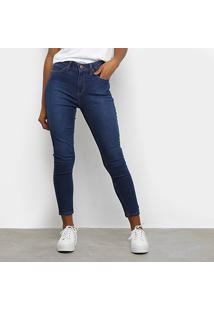 Calça Jeans Calvin Klein Skinny Five Pockets High R Feminina - Feminino-Azul