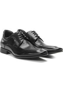 Sapato Social Couro Democrata Metropolitan Masculino - Masculino-Preto
