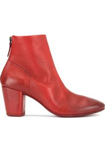 Marsèll Ankle Boot Com Detalhes Puídos - Vermelho