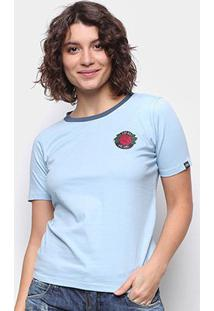 Camiseta Ecko Rose Feminina - Feminino-Azul Claro