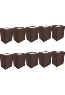 Arandela Premium Marrom Kit Com 10 Casah - Marrom - Dafiti