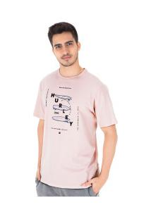 Camiseta Hurley Silk Boards - Masculina - Rosa