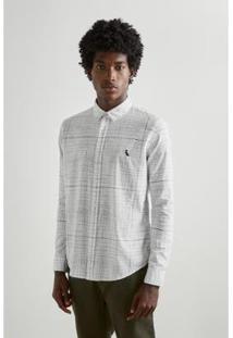 Camisa Grid Maxi Reserva - Masculino-Branco