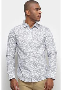 Camisa Colcci Manga Longa Classic - Masculino-Branco+Azul