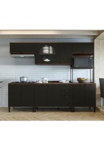 Cozinha Compacta Kohler 11 Pt 3 Gv Jacarandá E Preta
