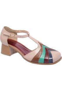 c8f1c1279c Privalia. Sapato Tradicional Em Couro Com Recortes- Nude   Azul ...