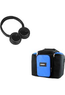 Kit Bolsa Térmica Dagg Fitness Azul G Headphone Bluetooth Msx