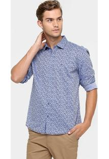 Camisa Vr Full Print Libert Indigo - Masculino