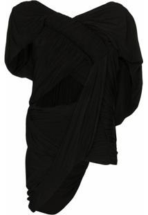 Rick Owens Blusa Com Drapeado - Preto