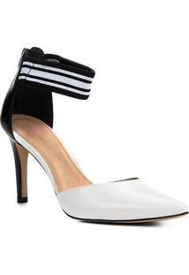 Scarpin Couro Shoestock Salto Médio Gorgorão - Feminino