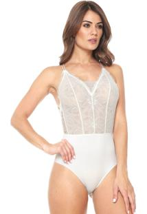 Body Calvin Klein Underwear Renda Branco