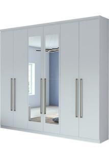 Guarda Roupa Alonzo New 6 Portas Com Espelho Branco