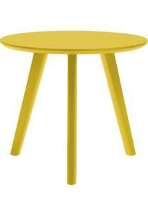 Mesa Lateral Paint Baixa Amarelo Acetinado 45 Cm (Alt) - 50973 - Sun House