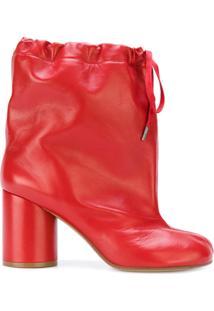 Maison Margiela Ankle Boot De Couro 'Tabi' - Vermelho