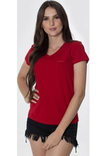 T-Shirt Osmoze Z 602110167 Vermelho - Vermelho - Feminino - Dafiti
